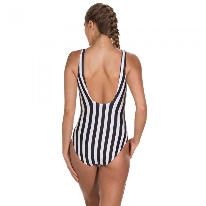 Costum inot femei Speedo Disney Minnie Placement U-back negru/alb-big