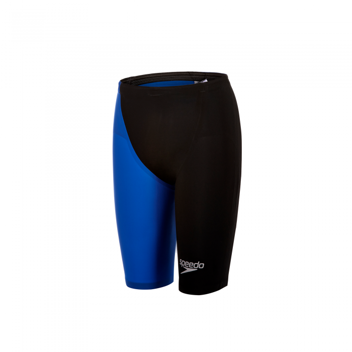 Costum profesional inot Speedo pentru barbati Fastskin LZR racer elite 2 high waisted jammer negru/albastru-big