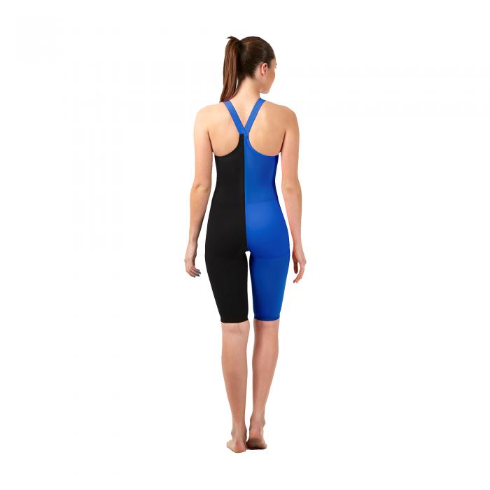 Costum profesional inot Speedo pentru femei Fastskin LZR racer elite 2 closedback kneeskin negru/albastru-big
