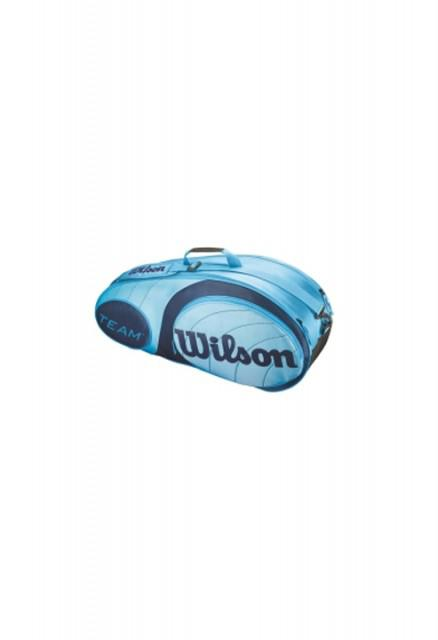 Geanta tenis Wilson TEAM 6PK BAG BLUE - 6-big