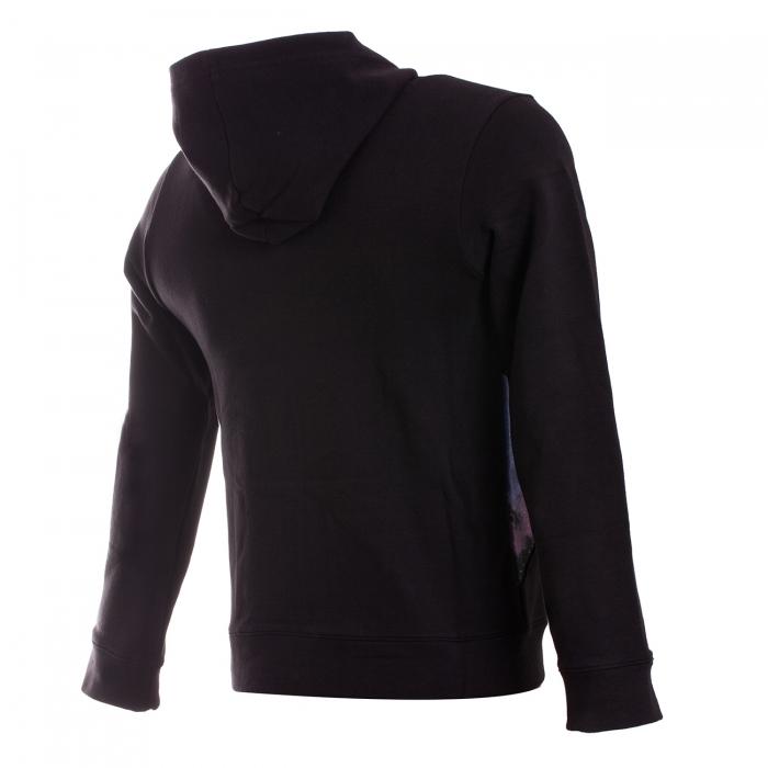 Hanorac cu fermoar sport copii Champion Hooded Sweatshirt Stretch Fleece negru-big