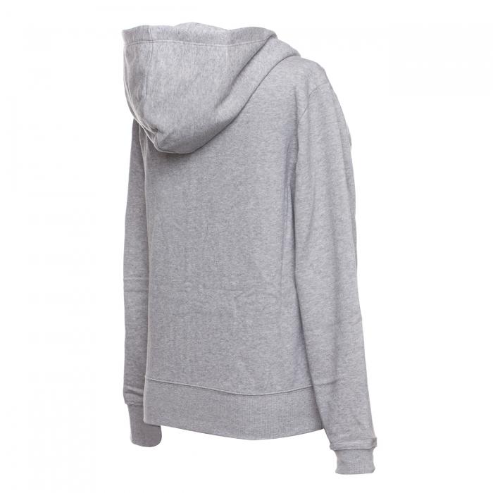 Hanorac sport cu fermoar femei Champion Hooded Full Zip Sweatshirt gri-big