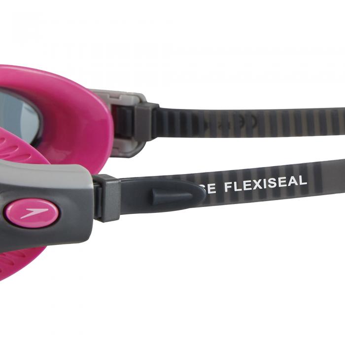 Ochelari de inot pentru femei Speedo Futura Biofuse Flexiseal roz/fumuriu-big
