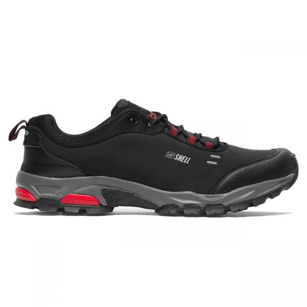 Pantofi sport barbati Brille LOW Soft shell negru/rosu-big