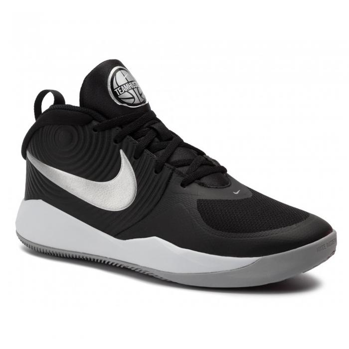 Pantofi sport medii copii Nike Team Hustle D 9 negru/alb-big