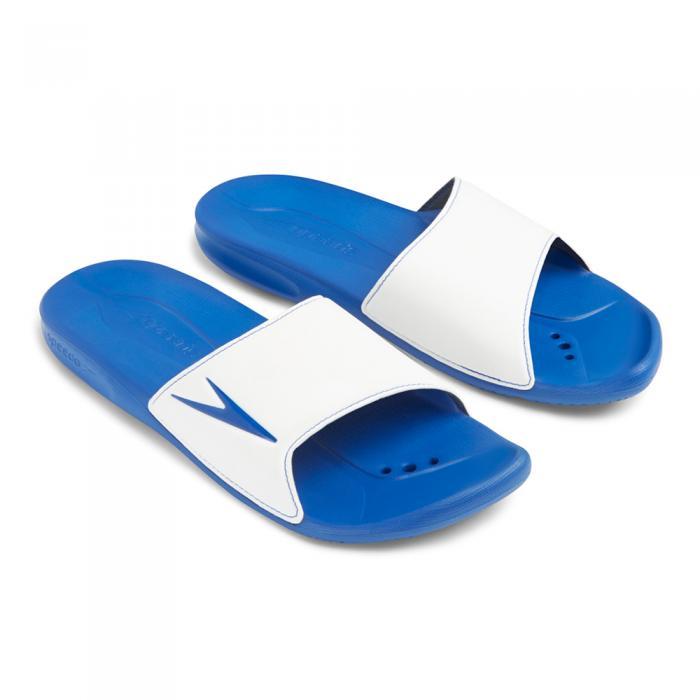 Papuci barbati Speedo Atami II  Alb/Albastru-big
