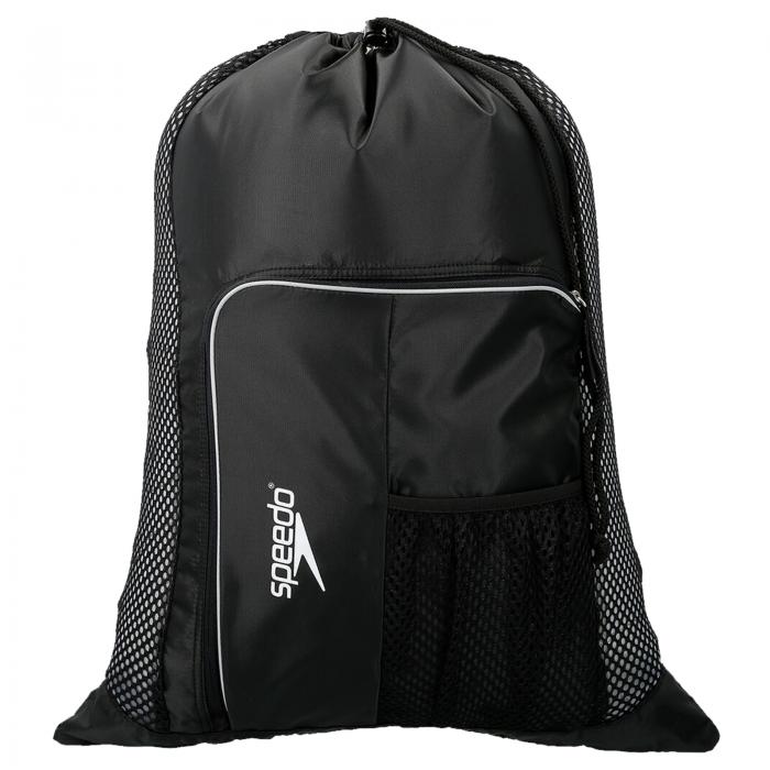 Saculet de plasa pentru accesorii Speedo DeLuxe negru/alb-big