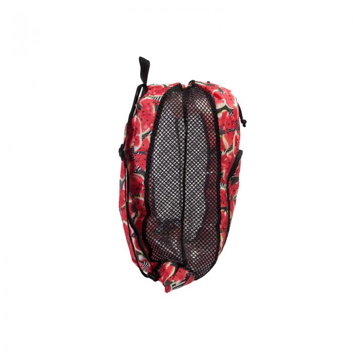 Saculet de plasa pentru accesorii Speedo DeLuxe negru/rosu-big
