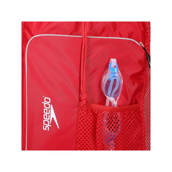 Saculet de plasa pentru accesorii Speedo DeLuxe rosu-big