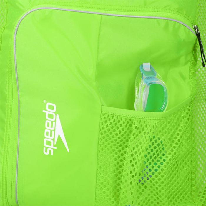 Saculet de plasa unisex pentru accesorii Speedo Deluxe verde-big