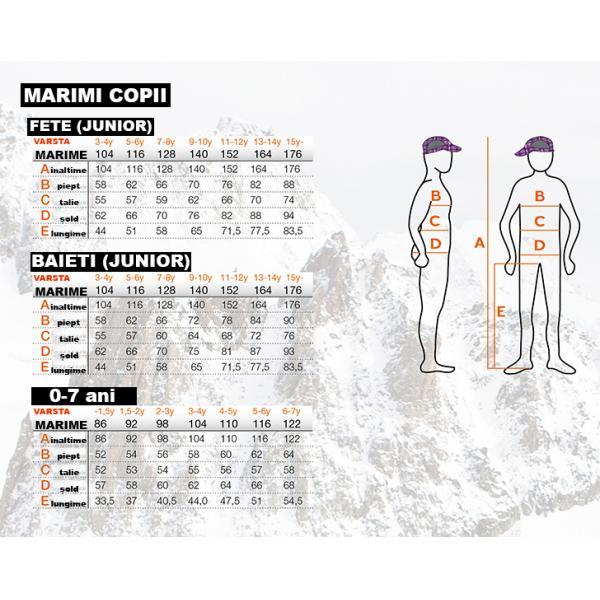 Salopeta ski copii Ice Peak Theron roz-big