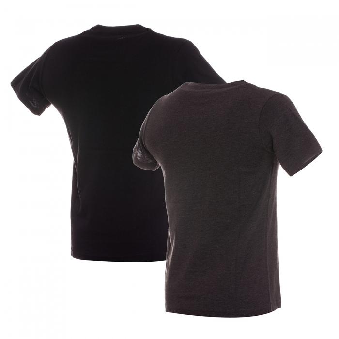 Set 2 tricouri sport copii Champion 2pack Crew-Neck negru/gri-big