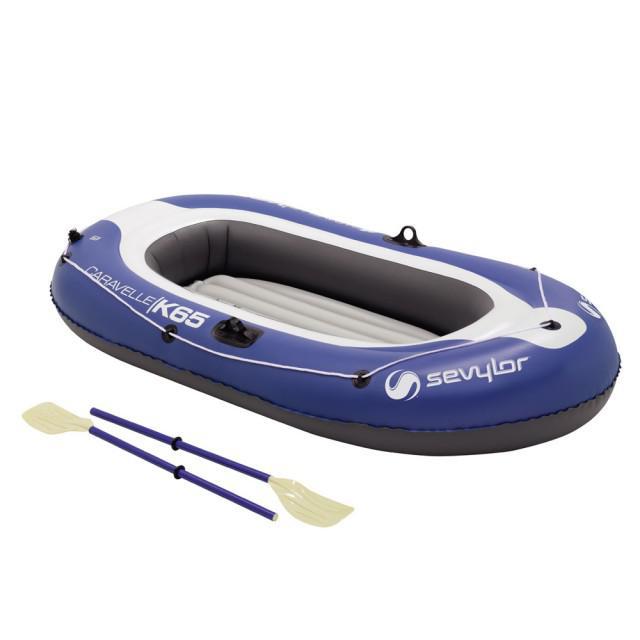 Set barca Carravelle gonflabila KK65 albastru/gri Sevylor-big