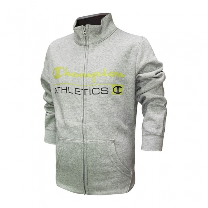 Trening copii Champion Full Zip Ultra Light Fall Fleece gri-big