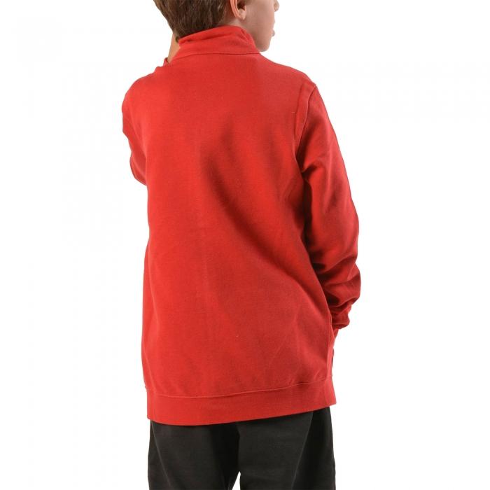 Trening copii Champion Full Zip Ultra Light Fall Fleece rosu/gri-big