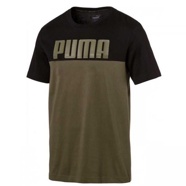 Tricou barbati Puma RebelBlock Tee negru/verde-big