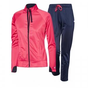 Trening femei Champion Trening Full Zip Suit roz/gri
