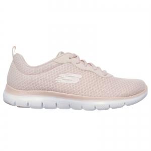 Pantofi sport dama Skechers FLEX APPEAL 2.0 NEWSMAKER roz/alb1