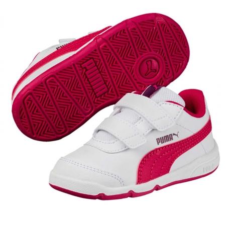 Pantofi sport copii Puma Stepfleex 2 SL V Inf alb/roz