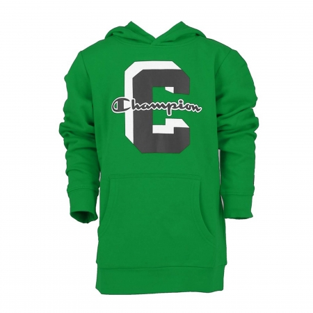 Hanorac cu gluga sport copii Champion Hooded Sweatshirt Fall Fleece verde