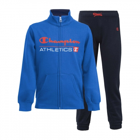 Trening copii Champion Full Zip Ultra Light Fall Fleece albastru/bleumarin