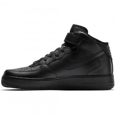 Pantofi sport inalti barbati Nike AIR FORCE 1 MID '07 negru