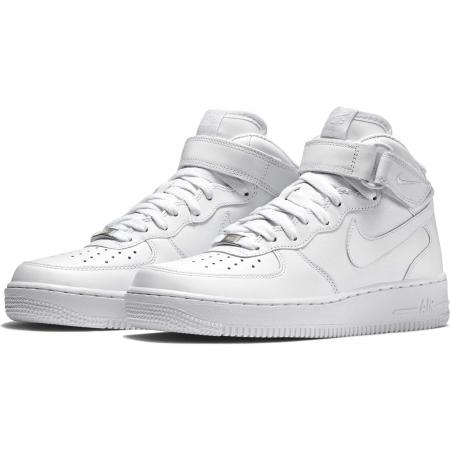 Pantofi sport inalti barbati Nike AIR FORCE 1 MID '07 alb1