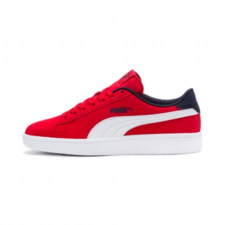 Pantofi sport copii Puma Smash v2 rosu/alb