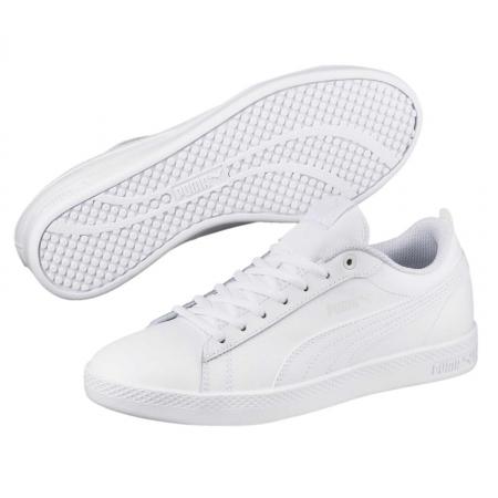 Pantofi sport femei Puma Smash Wns v2 L alb
