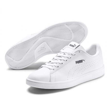 Pantofi sport femei Puma Smash v2 L Perf alb