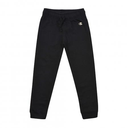 Pantaloni lungi copii Champion Rib Cuff Ultra Light Fall Fleece negru