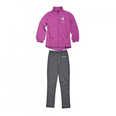 Trening copii Champion Special Ultra Light Fall Fleece mov/bleumarin
