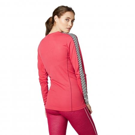 Bluza termica femei Helly Hansen W HH LIFA CREW rosu 3