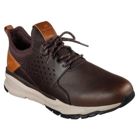 Pantofi casual barbati Skechers Relven- Hemson ciocolatiu
