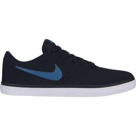 Pantofi sport barbati Nike NIKE SB CHECK SOLAR CNVS negru/albastru