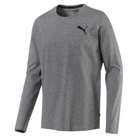 Bluza cu maneci lungi sport barbati Puma ESS No.1 Logo LS gri