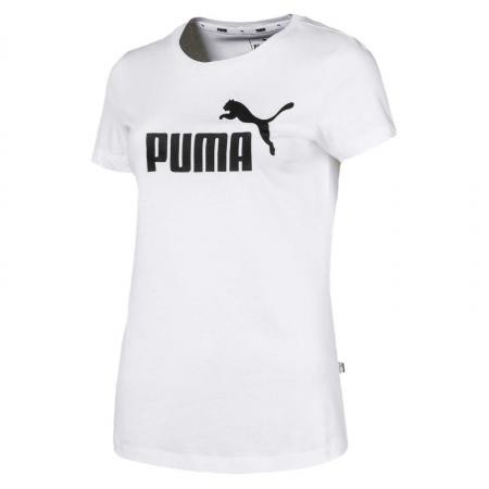 Tricou sport femei Puma ESS Logo alb0