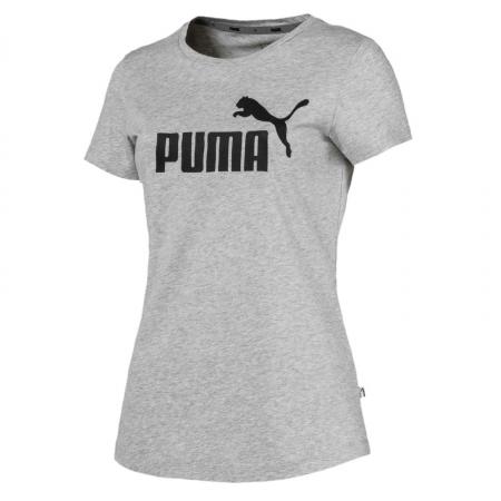 Tricou sport femei Puma ESS Logo gri