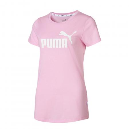 Tricou sport femei Puma ESS+ Logo Heather roz