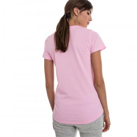Tricou sport femei Puma ESS+ Logo Heather roz3
