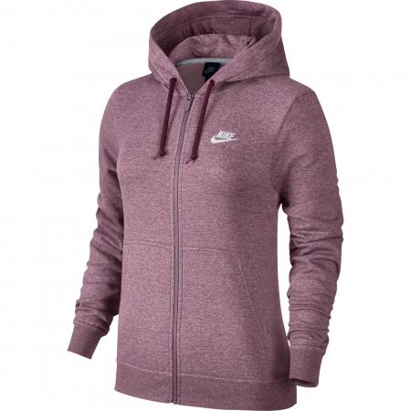 Hanorac cu fermoar femei Nike NSW HOODIE FZ FLC roz