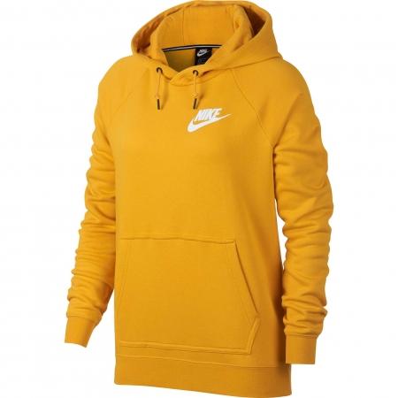 Hanorac cu gluga femei Nike NSW RALLY HOODIE galben