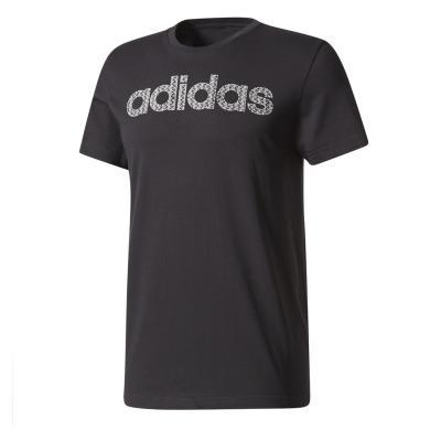 Tricou barbati Adidas LINEAR KNITTED negru