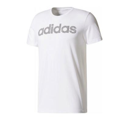 Tricou barbati Adidas LINEAR KNITTED alb