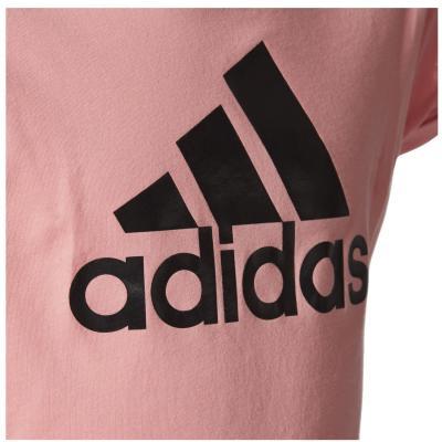 Tricou copii Adidas YG LOGO TEE roz2