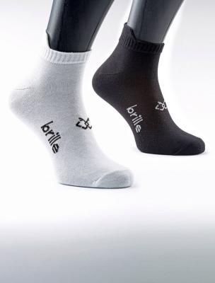 Sosete sport unisex Brille 2 perechi negru/alb