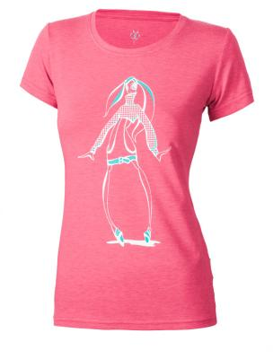 Tricou femei Brille Print roz