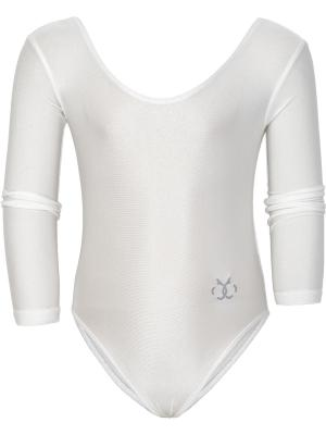 Body maneci lungi gimnastica fete Brille alb