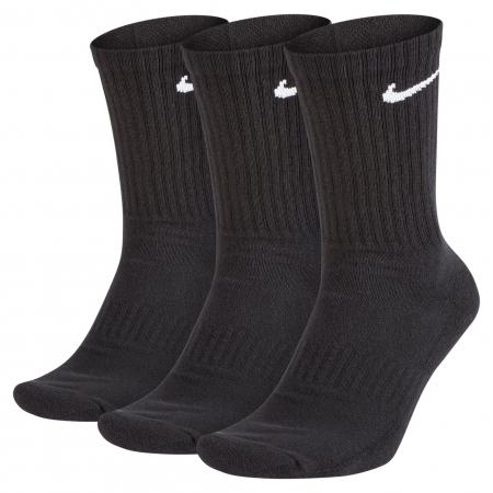 Set sosete unisex Nike U NK EVERYDAY CUSH CREW 3PR negru