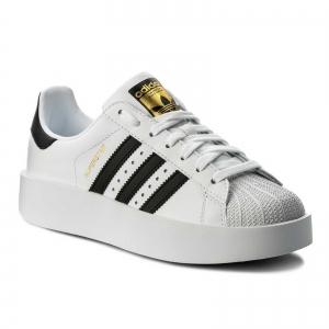 Pantofi sport dama Adidas Originals SUPERSTAR BOLD alb/negru